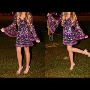 Sherri Hill short colorful beaded party dress